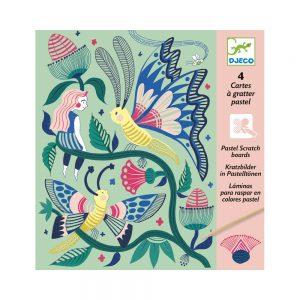 Djeco Scratch Cards Fantasy Garden