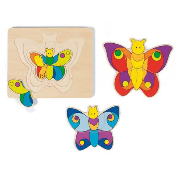 Goki 4 Layer Puzzle Butterfly