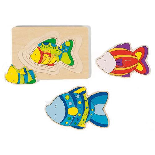 Goki 4 Layer Puzzle Fish