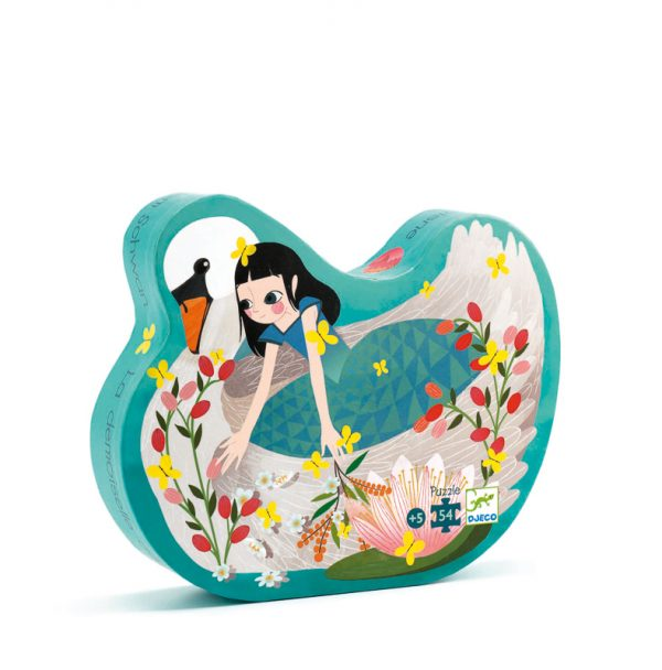 Djeco Silhouette Puzzle The Lady and the Swan 54 pce