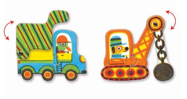 Djeco Puzzle Duo Vehicles