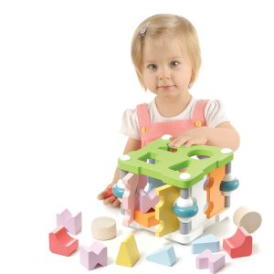 Cubika Wooden Square Shape Sorter
