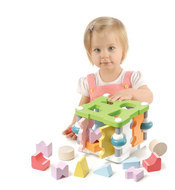 Cubika Wooden Square Shape Sorter