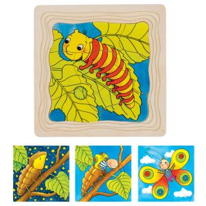 Goki 4 Layer Puzzle Butterfly Lifecycle