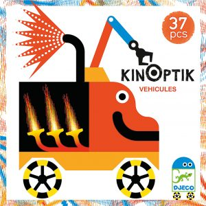 Djeco Kinoptik Construction Set Wacky Vehicles