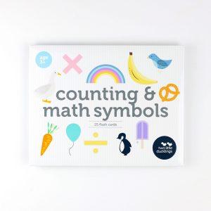 Counting & Math Symbols Flash Cards