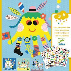 Djeco Create with Stickers Marine Creatures