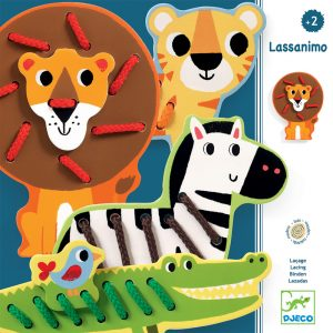 Djeco Wooden Lacing Game Jungle