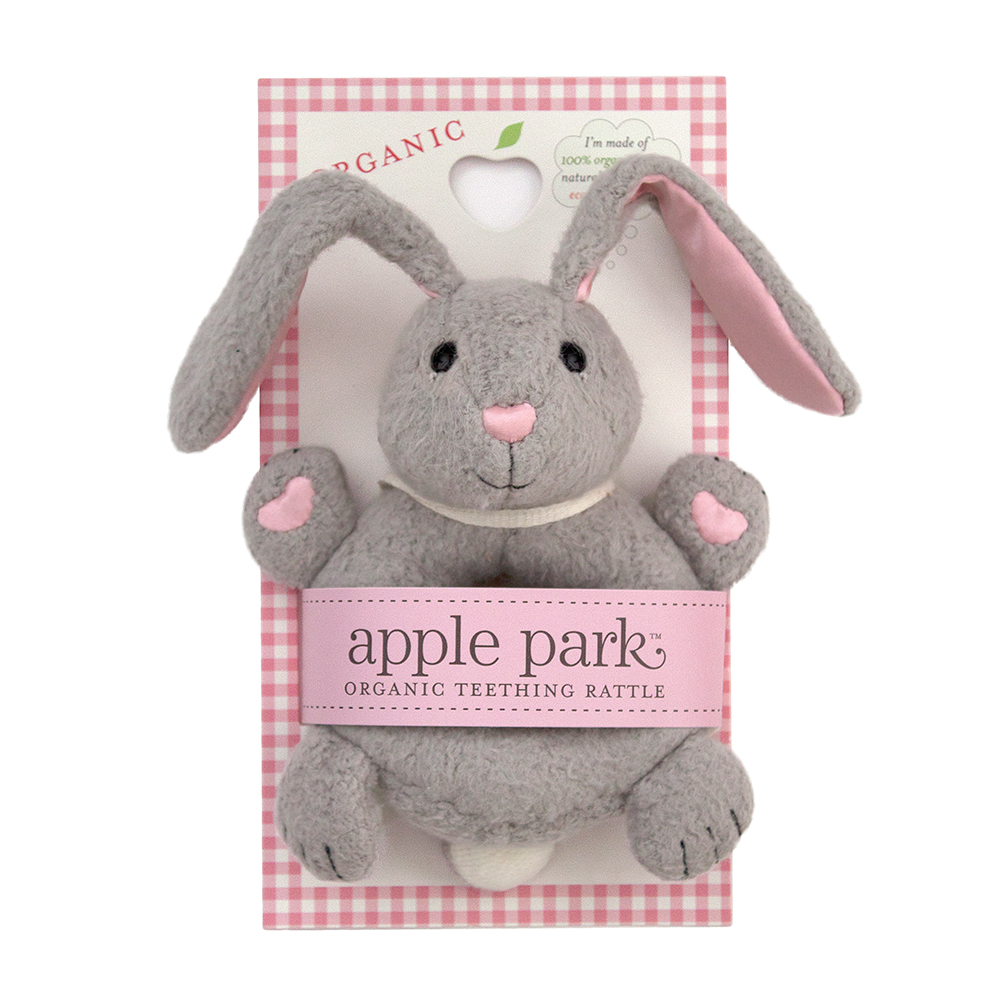 Apple Park Soft Rattle Bunny