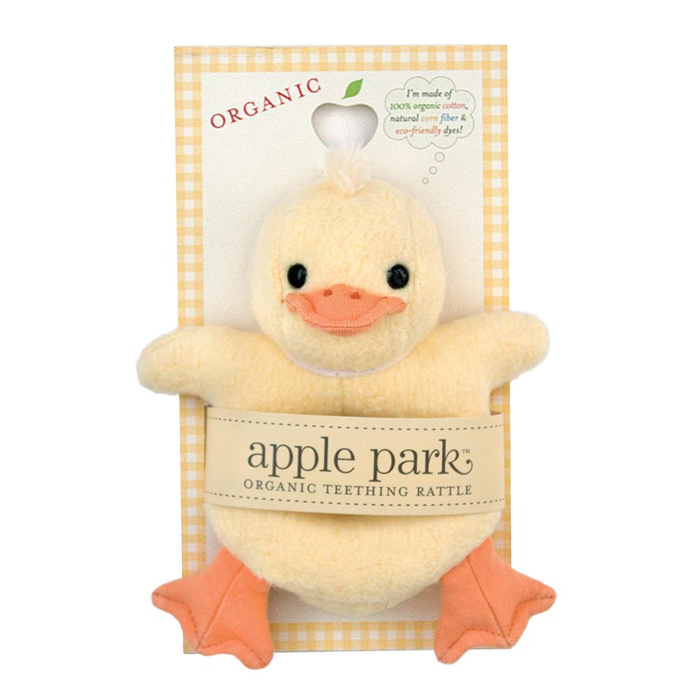 Apple Park Soft Rattle Ducky