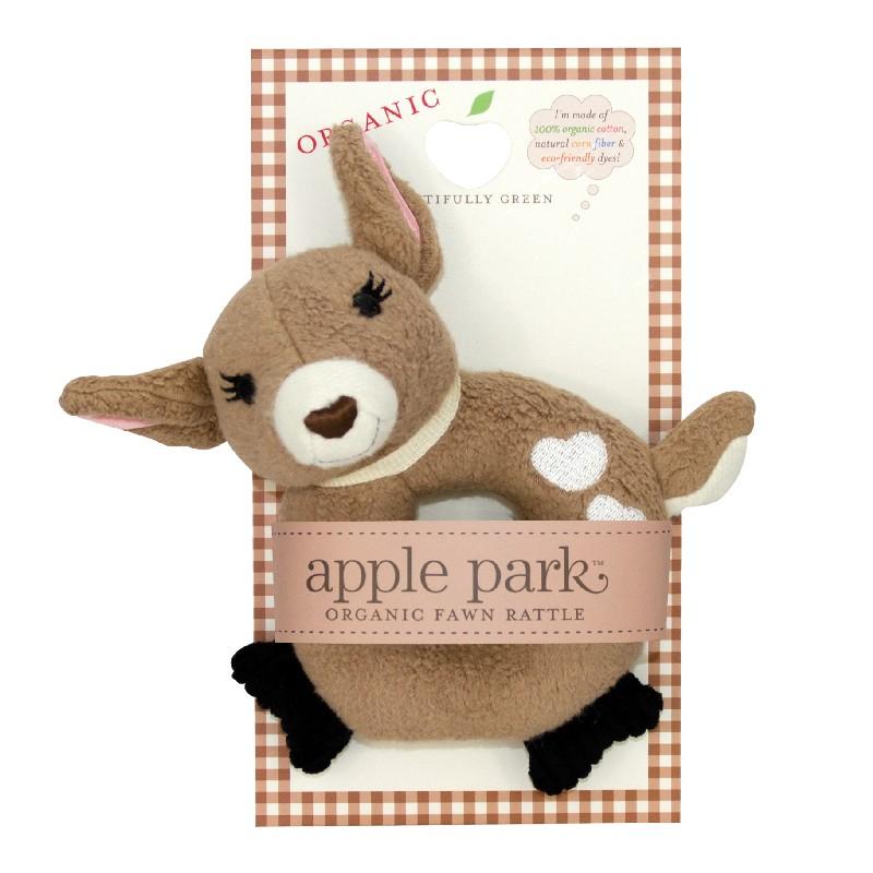 Apple Park Soft Rattle Fawn