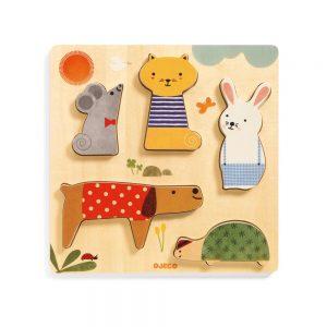 Djeco Woody Pets Puzzle