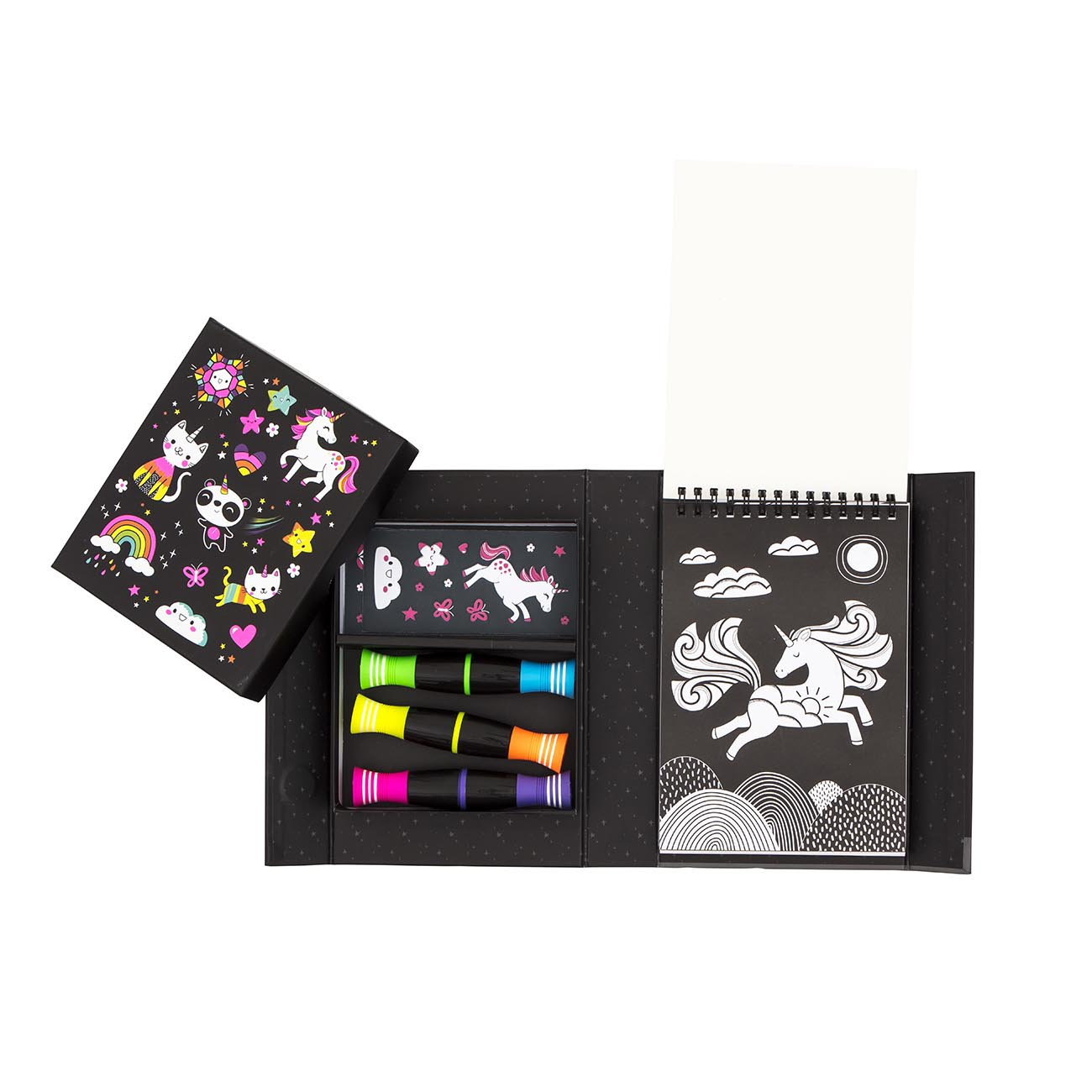 Colouring Set Neon Unicorn and Friends