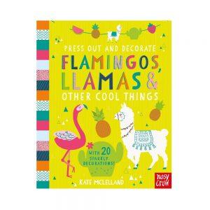 Press Out and Decorate Flamingos and Llamas