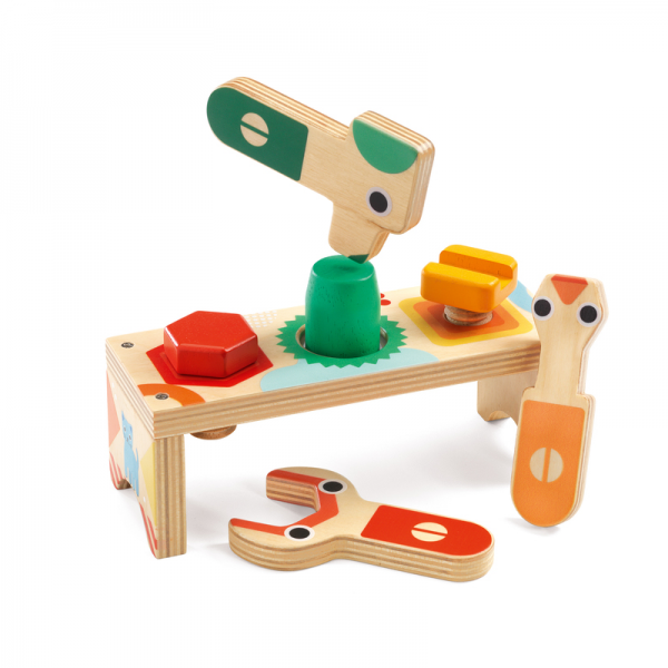 Djeco Bricolou Wooden Tool Set