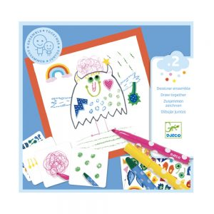 Djeco Little Monsters Drawing Set