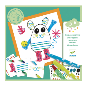 Djeco Little Animals Drawing Set