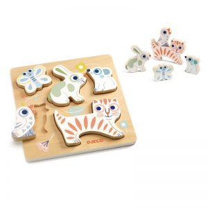 Djeco Baby Animali Wooden Puzzle
