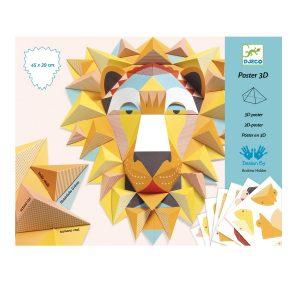 Djeco 3D Poster Lion