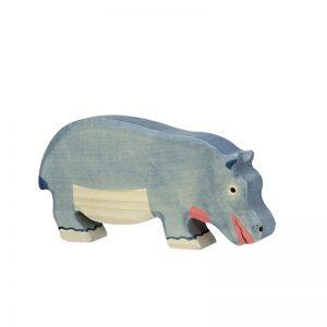 Holztiger Hippopotamus grazing