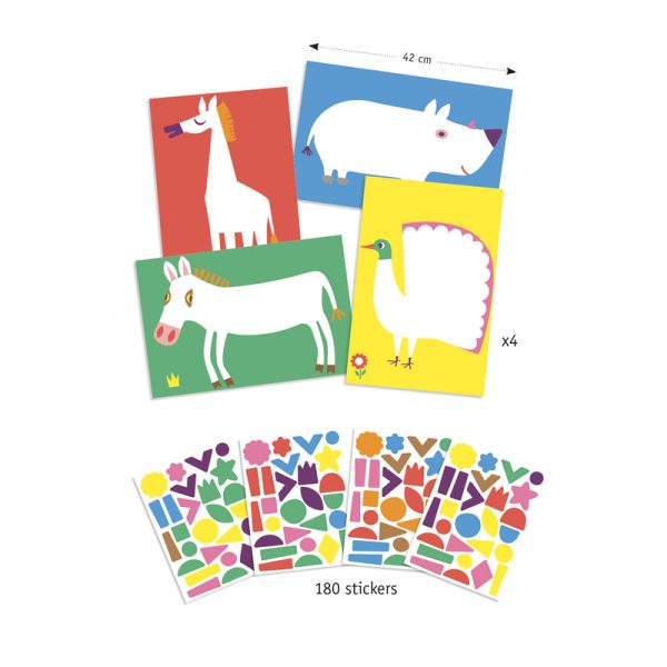 Djeco Create with Stickers Large Animals