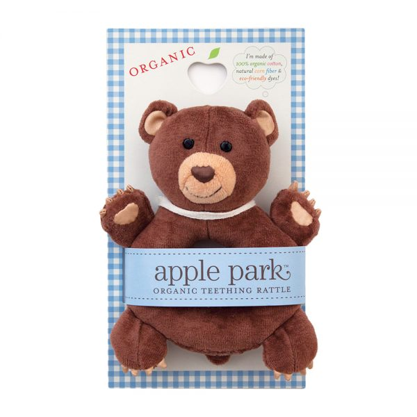 Apple Park Soft Rattle Bear