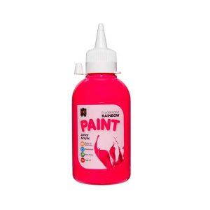 Rainbow Paint Fluoro Pink 250mL