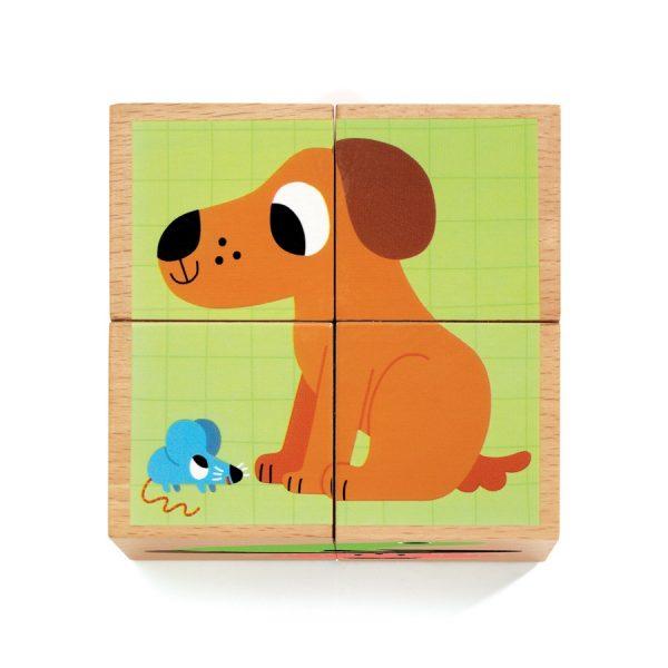 Djeco Block Puzzle Wouaf & Co