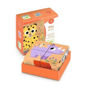 Djeco Block Puzzle Wild & Co