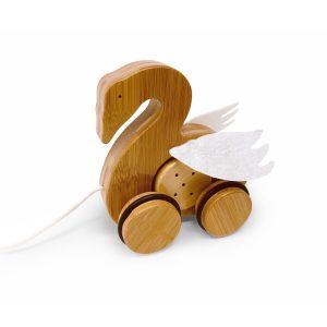 Kinderfeets Bamboo Pull Along Swan